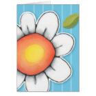 Daisy Joy blue stripes Note Card