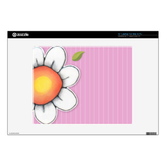 """Daisy Joy pink 12"""" Laptop For Mac & PC Skin Decals For 12"""" Laptops"""