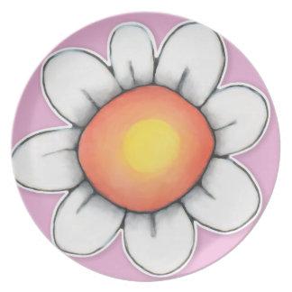 Daisy Joy pink 1 Plate