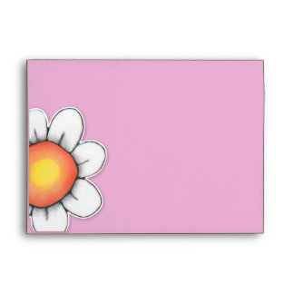 Daisy Joy pink A7 Card Envelope
