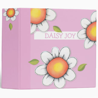 Daisy Joy pink Binder
