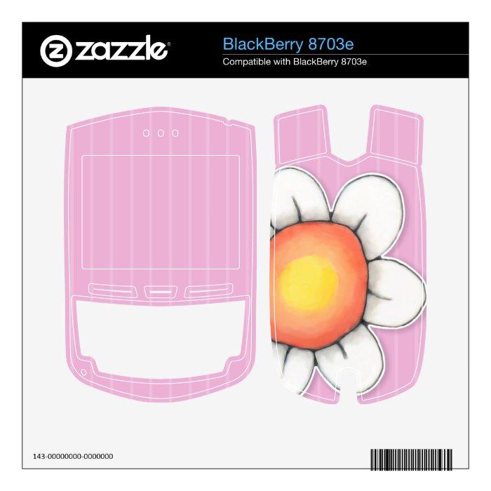 Daisy Joy pink BlackBerry 8703e Skin