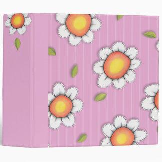 Daisy Joy pink Daisies Binder
