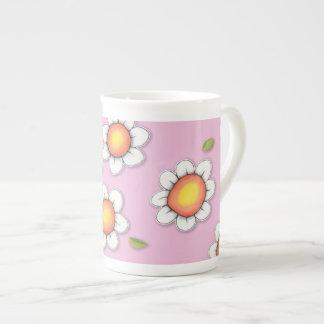 Daisy Joy pink Daisies Bone China Mug