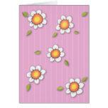 Daisy Joy pink Daisies Card