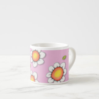 Daisy Joy pink Daisies Espresso Mug