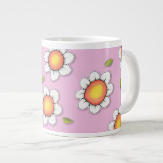 Daisy Joy pink Daisies Jumbo Mug