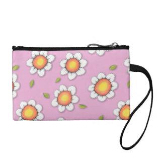 Daisy Joy pink Daisies Key Coin Clutch