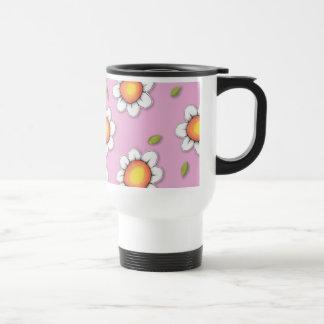 Daisy Joy pink Daisies Travel Mug