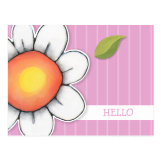 Daisy Joy pink Hello Postcard