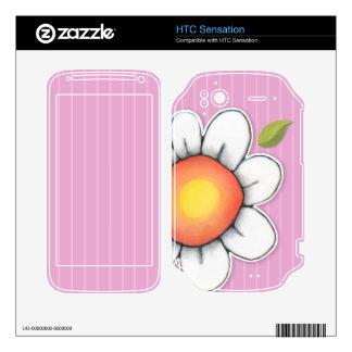 Daisy Joy pink HTC Sensation Skin