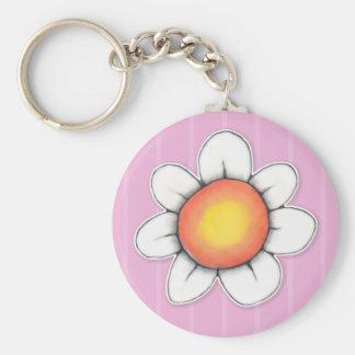 Daisy Joy pink Keychain