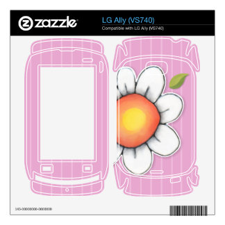 Daisy Joy pink LG Ally VS740 Skin Decal For The LG Ally