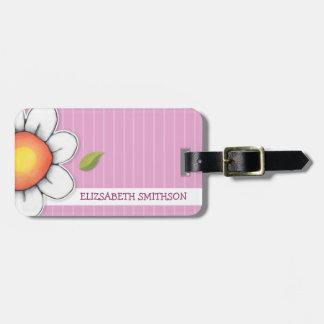 Daisy Joy pink Luggage Tag