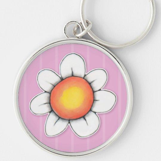 Daisy Joy pink Premium Keychain