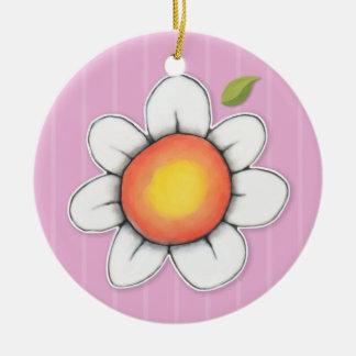 Daisy Joy pink Round Ornament