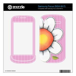 Daisy Joy pink Samsung Focus Skin