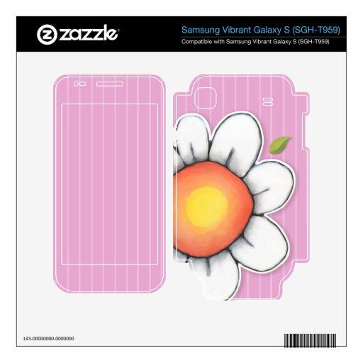 Daisy Joy pink Samsung Vibrant Galaxy S Skin Samsung Vibrant Decal