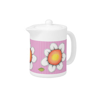 Daisy Joy pink Small Teapot