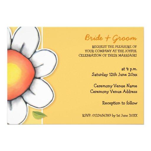 Daisy Joy yellow 2 Wedding Invitation