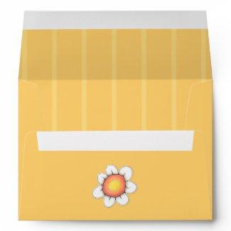 Daisy Joy yellow A7 Card Envelope
