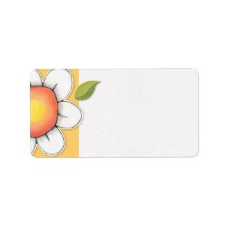 Daisy Joy yellow Address Label