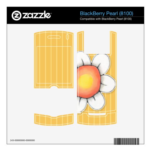 Daisy Joy yellow BlackBerry Pearl (8100) Skin Decal For BlackBerry