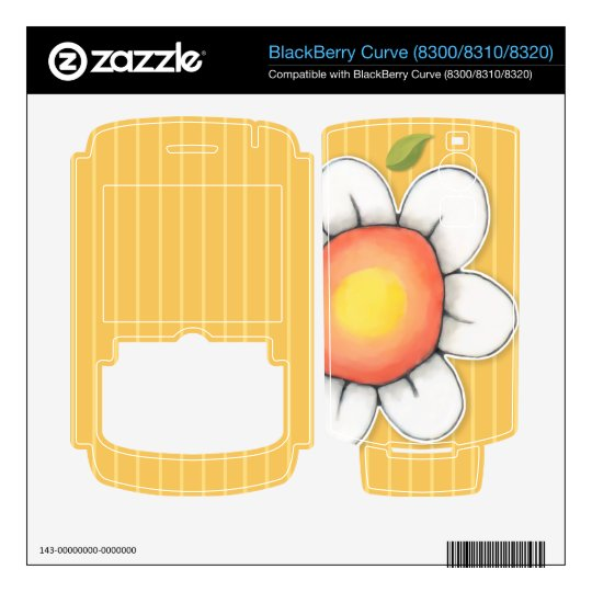 Daisy Joy yellow Curve (8300/8310/8320) Skin BlackBerry Decals