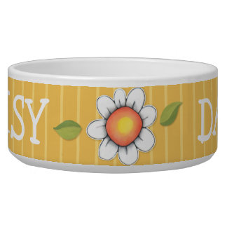 Daisy Joy yellow Dog Pet Bowl