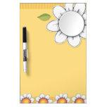 Daisy Joy yellow Dry Erase Board w/Mirror