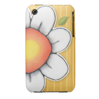 Daisy Joy yellow iPhone 3 3GS Barely There Case iPhone 3 Covers