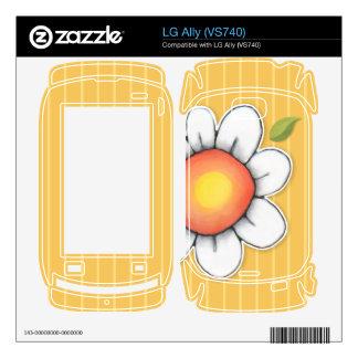 Daisy Joy yellow LG Ally (VS740) Skin Skin For LG Ally