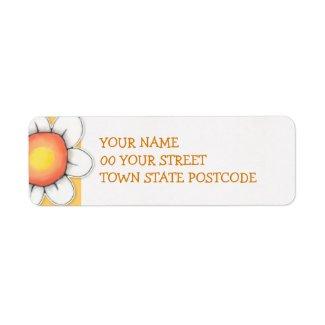 Daisy Joy yellow Return Address Label