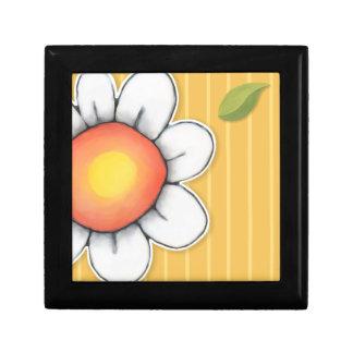 Daisy Joy yellow Small Tile Gift Box
