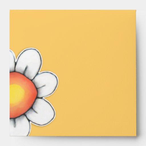 Daisy Joy yellow Square Invitation Envelope