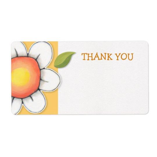 Daisy Joy yellow Thank You Sticker