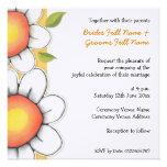 Daisy Joy yellow Wedding Invitation