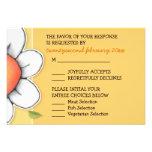 Daisy Joy yellow Wedding RSVP Card Personalized Invitation