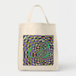 Daisy Kaleidoscope Canvas Bag
