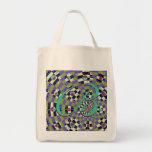 Daisy Kaleidoscope Canvas Bags