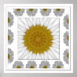 Daisy Kaleidoscope Print