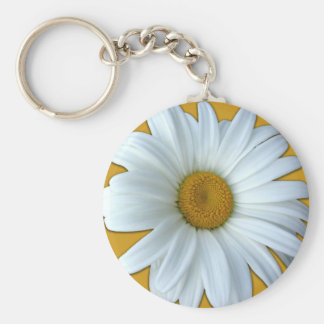 Daisy Key Chains Cheerful Yellow Flower Gifts