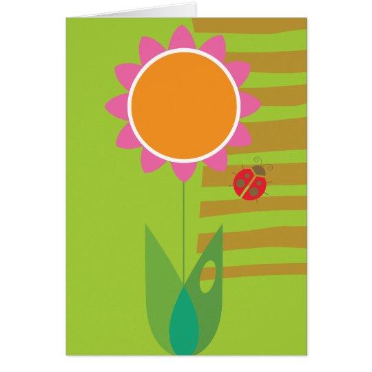 Daisy & Ladybug Card