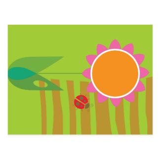 Daisy & Ladybug Postcard