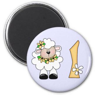 Daisy Lamb 1st Birthday Magnet