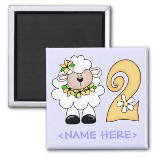 Daisy Lamb 2nd Birthday Magnets