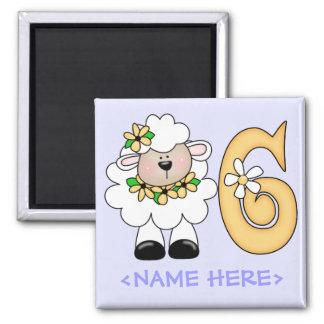 Daisy Lamb 6th Birthday Magnet