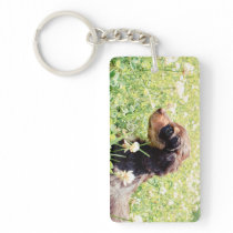 Daisy & Littermates Double Photo Keepsake Keychain