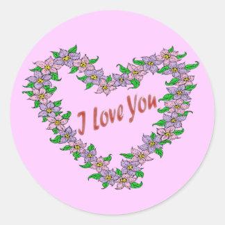 Daisy Love Classic Round Sticker