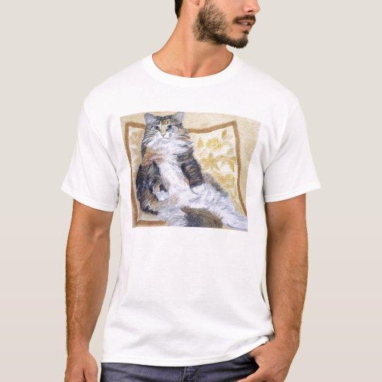 Daisy Mae Maine Coon Cat Portrait T-Shirt